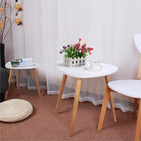 Toys Studio Triangle Coffee Table Comfort Modern Sofa Side End Table Solid Pine Legs Living Room Office Set Of 1
