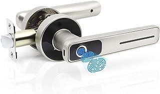 قفل درب اثر انگشت Geek Smart - قفل درب ورودی بدون کلید قفل درب بیومتریک برای خانه ها / آپارتمان ها / دفتر / AirBnB / هتل ها (نقره ای)