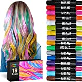 Hair Chalk for Girls and Boys 16 Colors with 6 Metallic For...