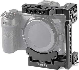 SMALLRIG Z7 Media Jaula para Nikon Z6 / Z7 Media Jaula con Sistema de Liberación Rápida Incorporado y el Ferrocarril Incorporado de la OTAN - 2262