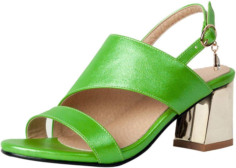 MEIZOKEN Women's Chunky Heel Sandal Ankle Strap Slingback Block Heeled Casual Open Toe Cutout Summer shoes