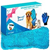 Awesome Pet Goodies Microfibre Dog Drying Towel Chenille, Absorbent...