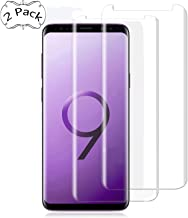 Galaxy S9 Screen Protector, UZER Tempered Glass Film 3D Curved Edge,?HD Clear, Ultra-thin, Case Friendly/96% coverage, 9H Hardness,Bubble Free,Anti-Scratch for Samsung Galaxy S9 2018 [2 Pack]