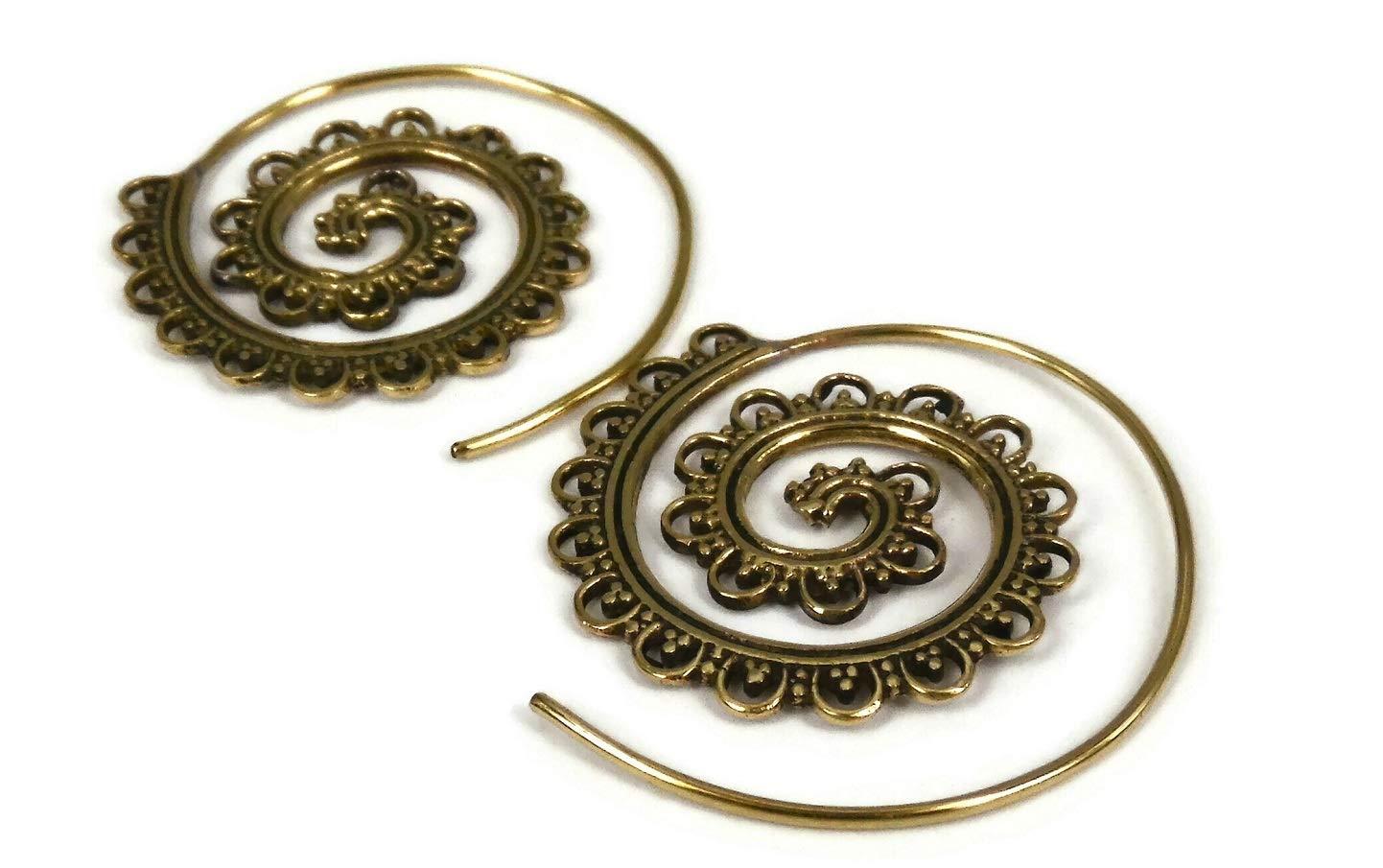 Large New Orleans Mall Bohemian Vintage Hoop Popular popular Earrings Bra Tribal Circles