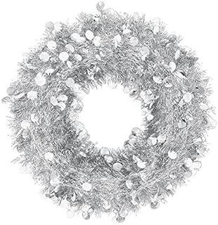 Silver Jumbo Tinsel Wreath | Christmas Decoration