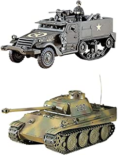 2 Hasegawa WW2 Vehicle Models – Pz.Kpfw V Panther Tank and M4A1 Half Track (Japan Import)