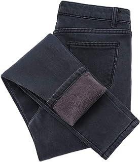 Nuevo invierno grueso polar jeans para las mujeres estiramiento caliente flaco denim terciopelo lápiz jeans estiramiento m...