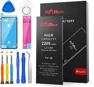 Batería para iPhone 6 2200mAH Reemplazo de Alta Capacidad, FLYLINKTECH Batería para iPhone 6 con 22% más de Capacidad Que la batería Original y con Kits de Herramientas de reparación, Cinta Adhesiva