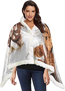Cute Chihuahua Dog Animal Lady Shawl Wrap Wearable Blanket For Teens 53x30 Inches With 3 Button For Sofa Outdoors Wearable Throw Blanket Wrap Women Shawl