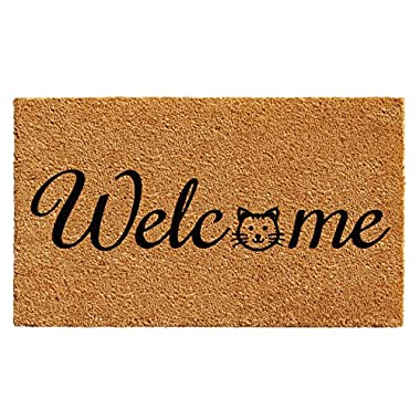 Home & More 102481729 Kitty Welcome Doormat 17  x 29