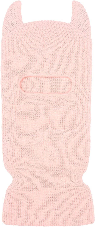 beanie Horn skimask Pink - 1hole Balaclava