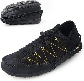 [ノーブランド] ワークシューズ メンズ アウトドアシューズ ファスナー付き折りたたみ式 運動スポーツシューズ 作業靴