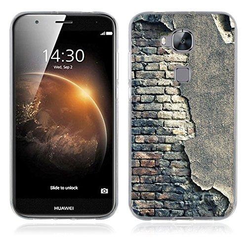 FUBAODA für Huawei Ascend G8 Hülle, Künstlerische - Serie TPU Case Schutzhülle Silikon Case für Huawei Ascend G8 / G7 Plus