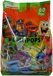 Nickelodeon Assorted Character Candy Lollipops, 60 Count