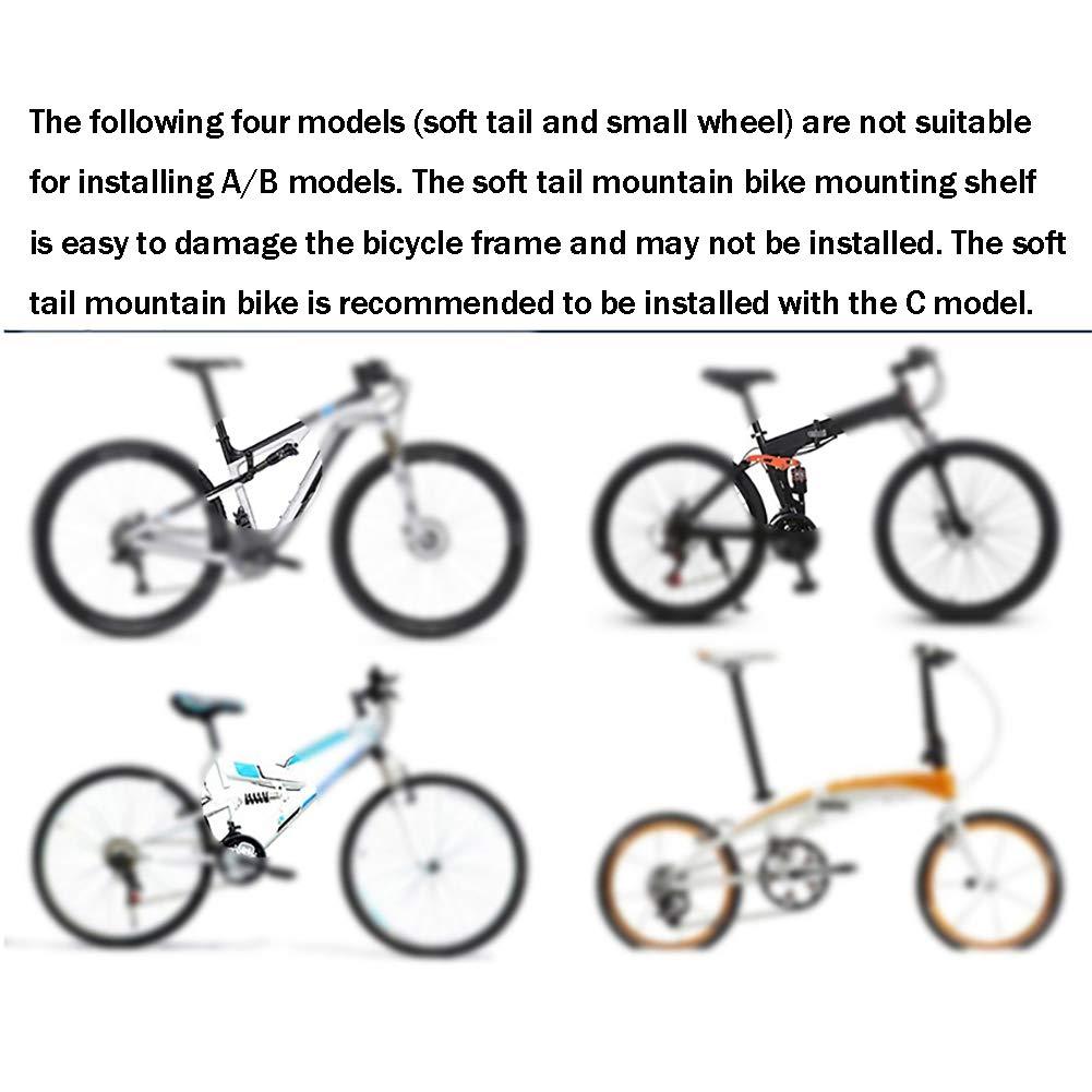 HECHEN Cuadro Trasero para Bicicleta de montaña - Estante de Freno de Disco de Bicicleta de montaña de liberación rápida - contrapunto de aleación de Aluminio,A: Amazon.es: Deportes y aire libre
