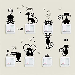 Adhesivo decorativo para pared vijtian dise/ño de gato negro