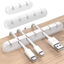 SOULWIT® 3-Pack Cable Holder Clips, Desktop Cable Organizer Cord Wire Management for USB Charging Cable Power Cord Mouse C...