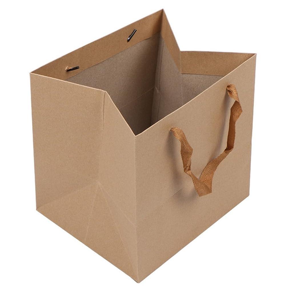 狂人本気通知するLeeDargon 13 X 13 X 13 Inch Brown Kraft Paper Gift Shopping Handle Bags for Package by leedargon