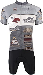 PaladinSport Short Sleeved Cycling Jersey and Mens Road Bike Clothing Sets US Army Style
