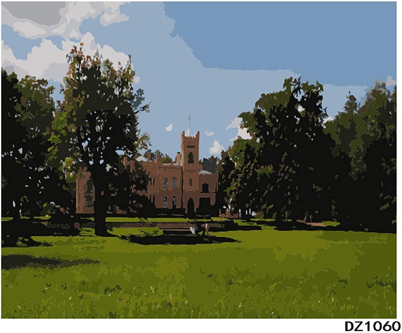 Für Erwachsene DIY Europäische Kirche Malen Malen Malen Nach Zahlen Set Home Dekor Malen Nach Zahlen Für Junior-Rahmen 40X50Cm B07PGT6CK4 | Günstige Preise  1164ab