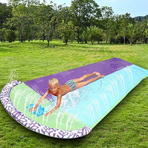 Gigante SPRIP Sprint Water Slide Diversión césped Agua Diapositivas Pools para niños Juegos de Verano Juguetes al Aire Libre (Color : Light Green)