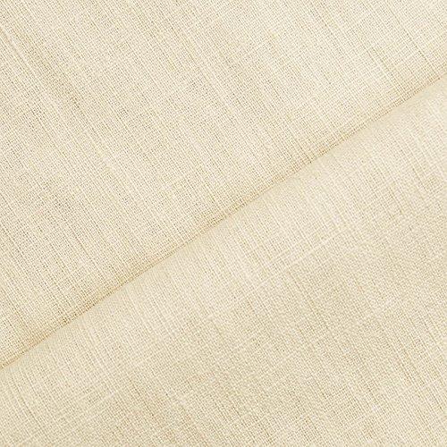(8,99€/m) Holmar - Leinen Stoff Meterware - 100% Leinen - vorgewaschen (beige)