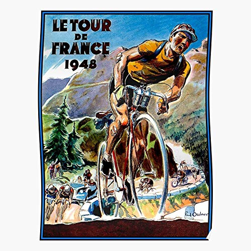 Racing Tour Races De Bicycle Bikes Cycles Paris France Print Modern Typographic Poster Girl Boss Office Decor Motivational Poster Dorm Room Wall