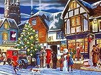 DIYクロスステッチキットダイヤモンド絵画,インテリア クリスマス プレゼント ホーム レストラン 装飾 クリスタル ラインストーン,クリスマス(40x50cm)