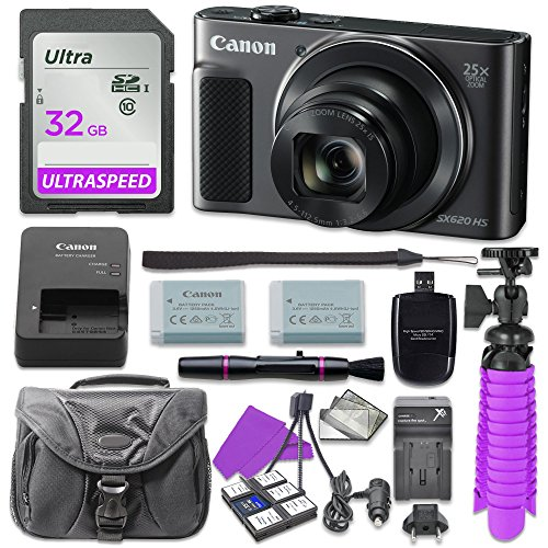 Canon PowerShot SX620 HS Digital Camera (Black)...