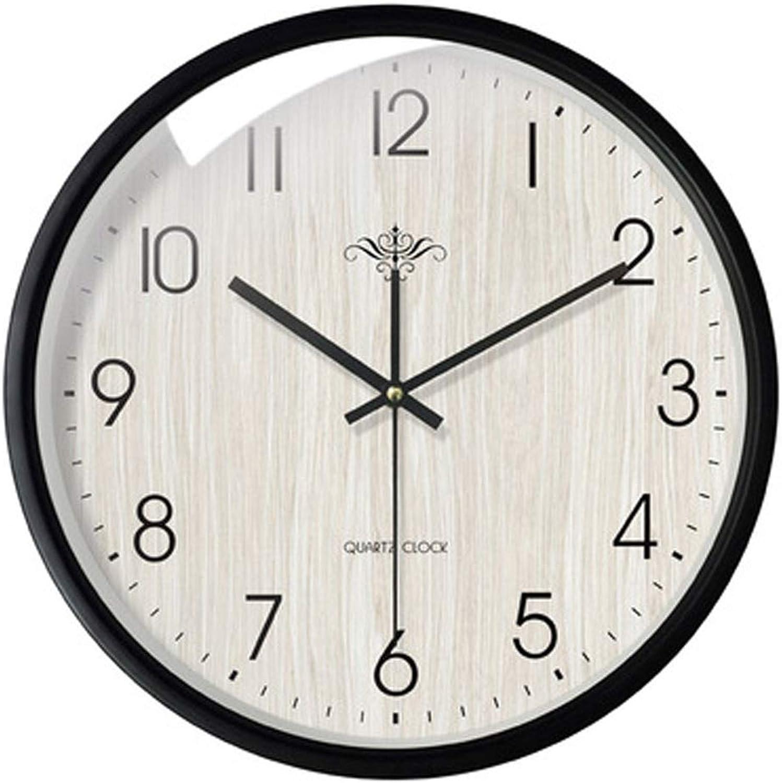 artículos de promoción LONGLONGJINGXIAO Reloj de Parojo - Reloj de decoración de de de la Sala - Reloj de Cuarzo - Silencio - Reloj de Parojo rojoondo de Metal (Color   D, Tamaño   14in)  comprar nuevo barato