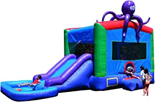 JumpOrange Commercial Grade Octopus Wet/Dry Inflatable Bouncy House and Slide Combo, 13 x 22'
