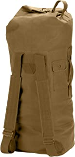 G.I. Style Canvas Double Strap Duffle Bag, Coyote Brown