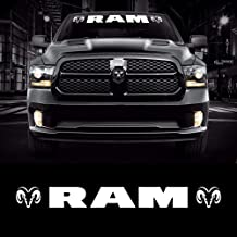 For Dodge Ram Head Logo Windshield Vinyl Decal Sticker Vehicle Graphics 40