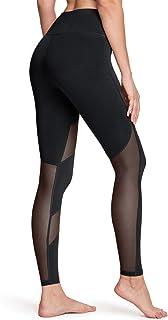 TSLA High-Waist/Mid-Waist Yoga Pants with Pockets, Tummy Control Yoga Leggings, Non See-Through 4 Way Stretch Workout Runn...