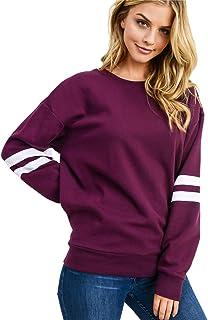 T1FE 1SFE Women's Crewneck Sweatshirt Long Sleeve T-Shirts Pullovers Blouses