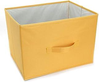 Panier de rangement Boîte de Rangement for Jouets Pliable sans Couvercle Liuyu. (Color : Yellow)