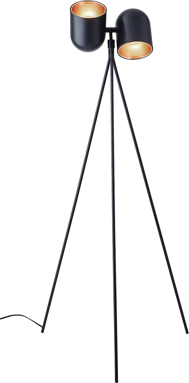 Adesso 6178-01 Simon 2-Light Floor Lamp, Smart Outlet Compatible, 58  x 24.5  x 24.5