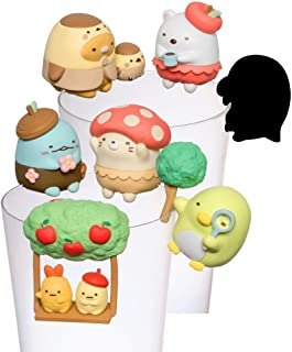 Kitan Club Putitto San-X Sumikko Gurashi Cup Toy - Blind Box Includes 1 of 7 Collectable Figurines - Hangs on Thin, Flat Edges - Authentic Japanese Design - Made from Durable Plastic