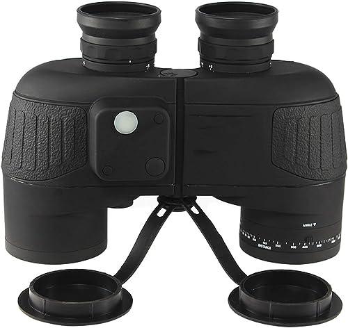 Hao 10 X 50 Mm Jumelles Range Finder Noir étanche Compass IPX-6 Télescope Portable Entièrement Multi-Couché Convient pour Extérieur