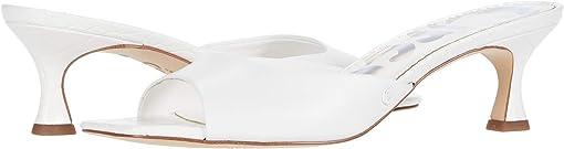 Bright White Fine Nappa/Exotic Croco