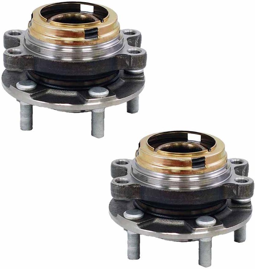 Set of 2 Pcs 2009~2019 Maxima 2015~2018 Murano HU513296 x2 Front Wheel Bearing Hub Assembly For 2014~2019 QX60 2013~2019 Pathfinder