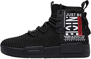 RUNMAXX Mens Fashion Walking Lace Up High Top Shoes Stylish Running Athletic Casual Sneaker