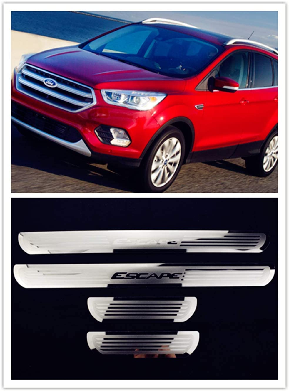 For Ford Escape 21 21 Accessories Steel Door Sill Scuff Plate Door Sill  Protector Guard Cover Trim 21pcs