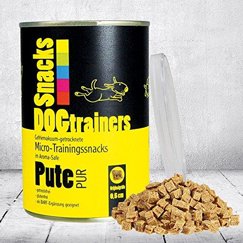 Schecker DOGTRAINERS Pute PUR 3 x 160g getreidefrei glutenfrei als Barf-Ergänzung geeignet 100% Pute Single Protein