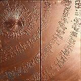 remolino de cobre Abstracto A658 - díptico industrial con textura, arte original, pinturas abstractas con textura del artista Ksavera