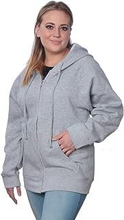 Beverly Rock Womens Sweatshirt Plus Size Heavyweight Active Fleece Full Zip-Up Hoodie