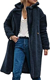 Howely Women Casual Fleece Lined Winter Lapel Warm Outwear Jacket