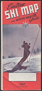Eastern Ski Map & Vacation Guide 1967 New England & New York