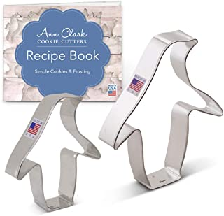 Ann Clark Cookie Cutters 2-Piece Penguin Cookie Cutter Set with Recipe Booklet, 3.5