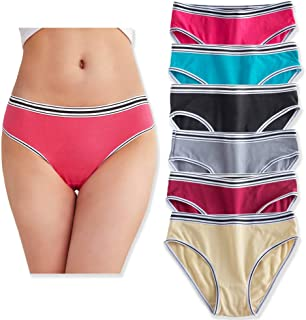 YaoKing Women's Underwear Cotton Bikini Panties Hipster Panty Comfy Briefs Pack of 6/7